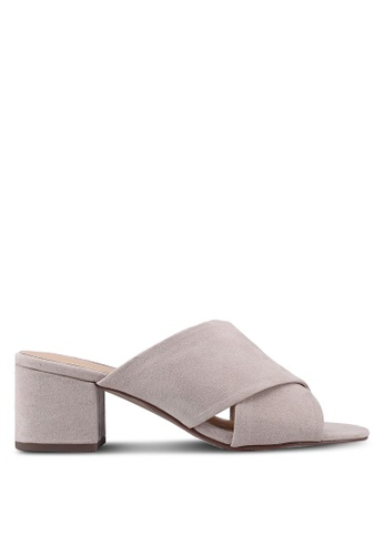 Dorothy Perkins brown Taupe Sophie Crossover Blocked Heels 79F3ESHB16170AGS_1