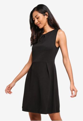 ZALORA BASICS black Basic Pleat Details Dress 9D306AAAED2441GS_1