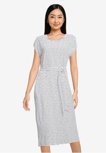 GAP white Tie Waist Dress 484E6AA4671B70GS_1