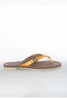 Synthetic Leather O-Buckle Flats