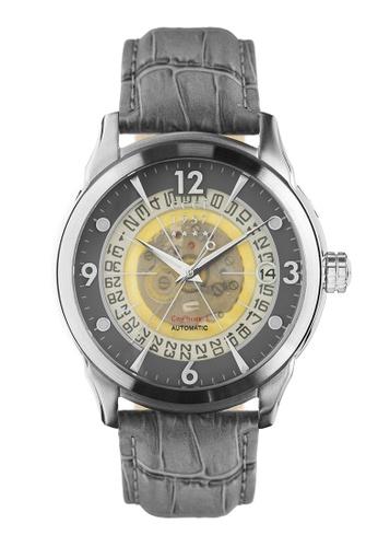 CCCP grey CCCP Men's Grey Genuine Leather Watch - CP-7001-0D 57EA1AC9AAF577GS_1
