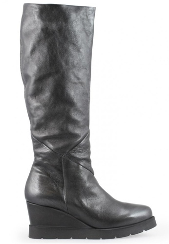 Shu Talk 黑色 型格內增高真皮皮靴 SH544SH099YETW_1
