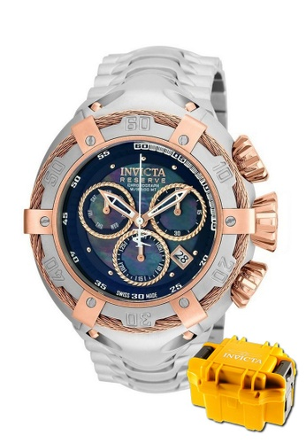 INVICTA gold Invicta Bolt Men Swiss Quartz Chronograph IP 52mm Stainless Steel Watch 21342 w/ Impact Case 26266ACED3C57AGS_1
