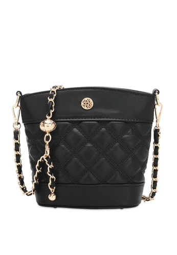 Wild Channel black Ladies Chain Sling Bag A0AC4ACE91AC2AGS_1