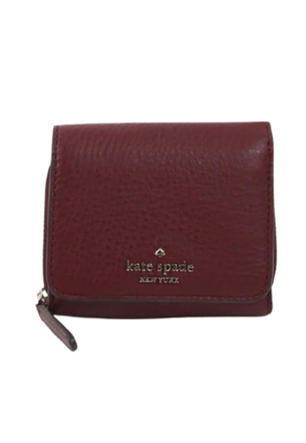 Kate Spade red Kate Spade Small Jackson WLRU6328 Trifold Continental Wallet In Cherrywood 610 2673BACBEBD85EGS_1