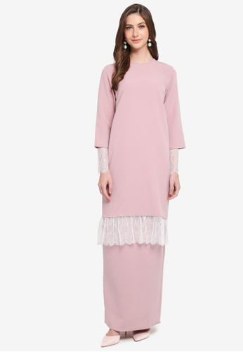 SHEA RASOL pink Elyse Modern Kurung BB617AA6525CD1GS_1