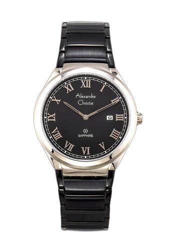 Alexandre Christie black Alexandre Christie Jam Tangan Pria - Black Gold - Stainless Steel - 8538 MDBCABA 76798AC6F03F29GS_1