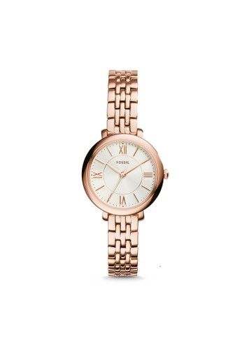 Fossil gold Fossil Jacqueline - White Silver Round Dial 26mm - Stainless Steel - Rosegold - Jam Tangan Wanita - ES3799 221C4ACE86A7FDGS_1