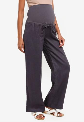 4e145986d642f6 Shop JoJo Maman Bébé Maternity Wide Leg Linen Trousers Online on ZALORA  Philippines