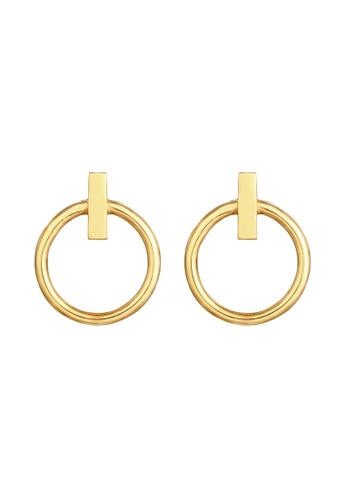 ELLI GERMANY gold Elli Germany Earrings Ear Studs Circles Geo Look Basic Trend in 925 Sterling Silver Gold Plated F1CDCACBDC0726GS_1