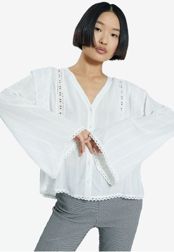 PIMKIE white Wide Sleeved Blouse 7A167AAFA462D8GS_1