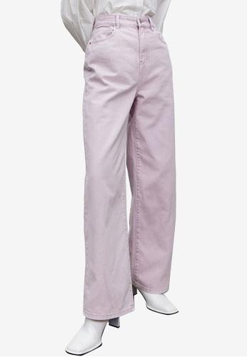 URBAN REVIVO purple Casual Trousers B3A6EAA9C970FBGS_1