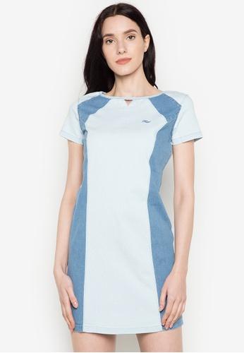 Freego blue Ladies Bodycon Dress FR760AA0JW5BPH_1