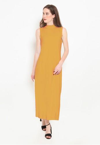 BASIC ONE orange Basic One Jeddah Long Dress Jasmin Mustard 841B1AAC7FBCCFGS_1