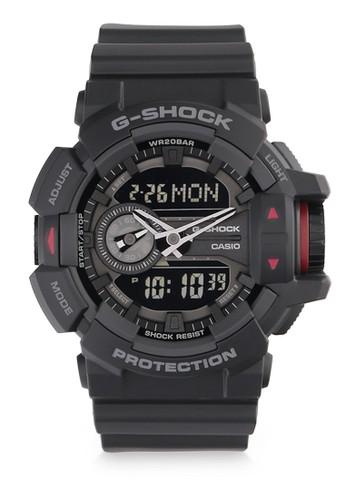 Casio black Casio G-SHOCK Jam Tangan Pria - Black Red - Silicon - GA-400-1BDR CA347AC0VKA3ID_1