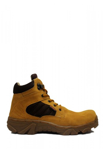 Cut Engineer brown Cut Engineer Safety New Tactikal Boots Iron Suede Tan CCA88SH58A053BGS_1