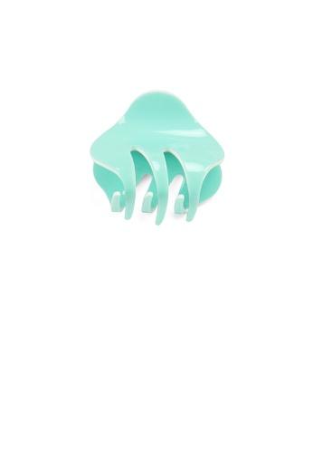 Glamorousky silver Simple and Cute Light Green Geometric Small Hair Claw EB4D0ACBB44FF6GS_1
