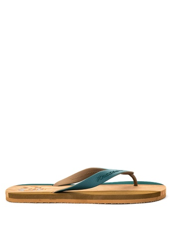 Krooberg brown and green Hollywood II Sandals & Flip Flops KR692SH0J33VPH_1