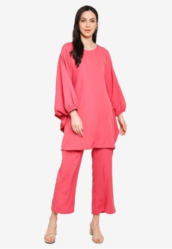 Butik Sireh Pinang pink Zalikha Blouse Suit Kaftan AC589AAA11DF4EGS_1