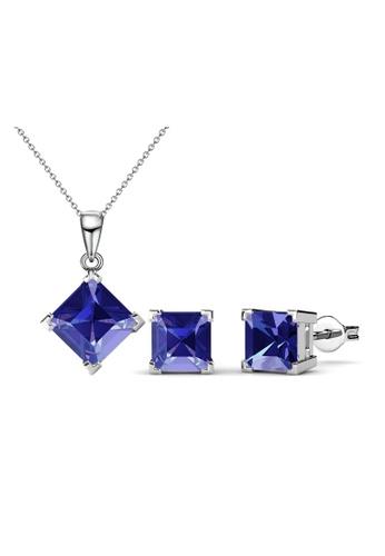 Her Jewellery blue Princess Set (Dark Blue) - Crystals from Swarovski® HE210AC0FSU4SG_1
