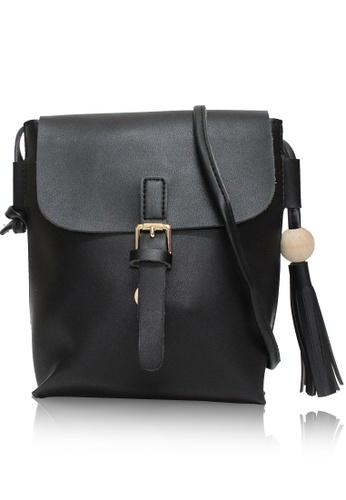 Dazz black Bucket Bobble Crossbody Bag - Black DA408AC06JEJMY_1