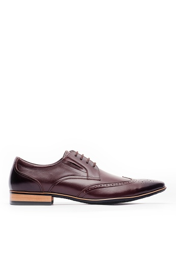 Life8 brown Men formal British Style Leather Shoes-09804-Brown AAE9DSH40E8D97GS_1