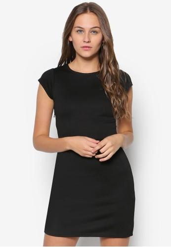 素esprit 尖沙咀色修身蓋袖連身裙, 服飾, 洋裝