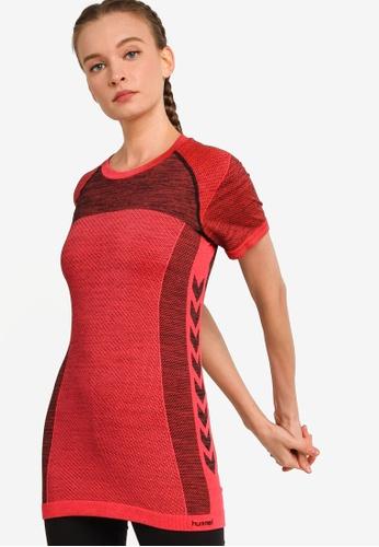 Hummel red Hummel Clea Seamless T-Shirt 01C88AA3997C7FGS_1