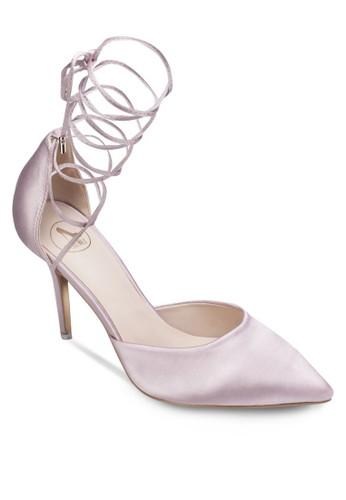 緞感交叉繫帶高跟鞋zalora 男鞋 評價, 女鞋, 鞋