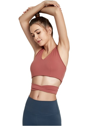 B-Code pink ZWG1110-Lady Quick Drying Running Fitness Yoga Tank Top-Pink 90385AA01BF17BGS_1