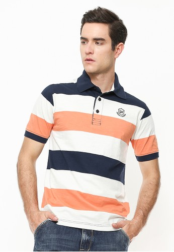 Johnwin multi Slim Fit - Polo Shirt - Motif Garis - Multi Color 4D38DAABCF5B0BGS_1