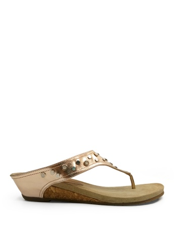 Kenneth Cole New York gold GREAT LEAP 4 - Sandal KE615SH0T19CMY_1