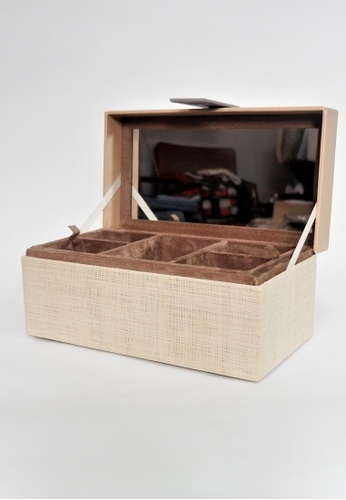 Grassroots grey Square Jewelry Box (Large) 52465HLD011682GS_1