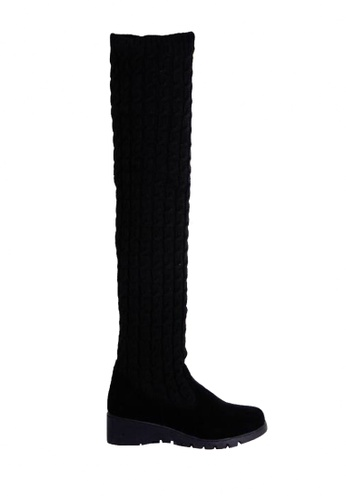 Twenty Eight Shoes Sweater Shaft Low Heel Over Knee Boot VB168 TW446SH2VP08HK_1