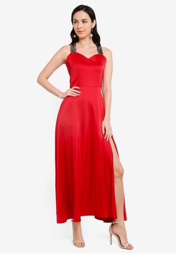 Megane red Red Romance Cheresse Long Dress C0B84AAA533561GS_1