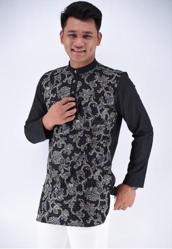 UA BOUTIQUE black Kurta Batik UAKLB06-011 (Black) A0B1CAA4A71013GS_1