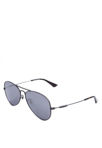 3e61b7ca58 Levi s black Gun Full Rim Metal Frame Aviator Sunglasses   LV91082C3PS58    LE892GL87JGYPH 1