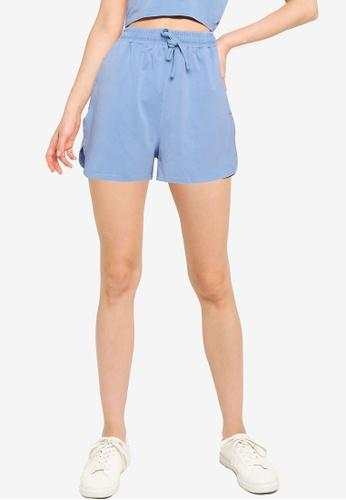 Mango blue Cotton Organic Shorts B5036AAAF5724DGS_1