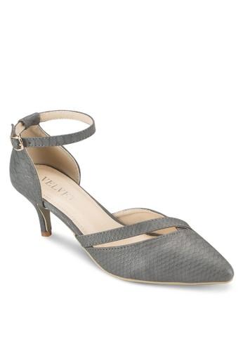 esprit taiwanKay 暗紋側空低跟鞋, 女鞋, 鞋