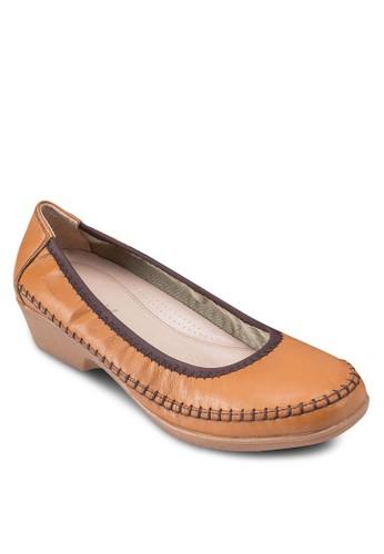 Glyniesprit 手錶s 拼色低粗跟鞋, 女鞋, 鞋
