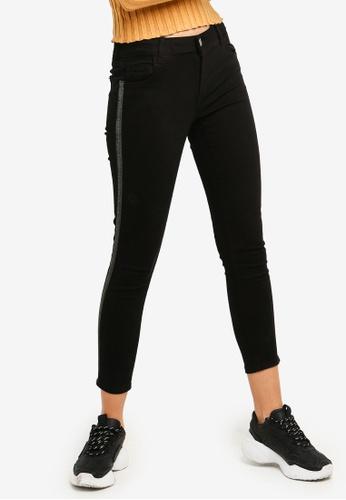 Cotton On black Mid Rise Grazer Skinny Jeans 55F69AA8FDA784GS_1