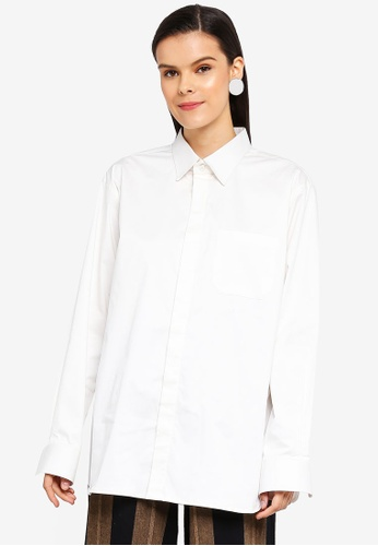 AfiqM white Classic Oversized Shirt 04A59AA03F0ACAGS_1