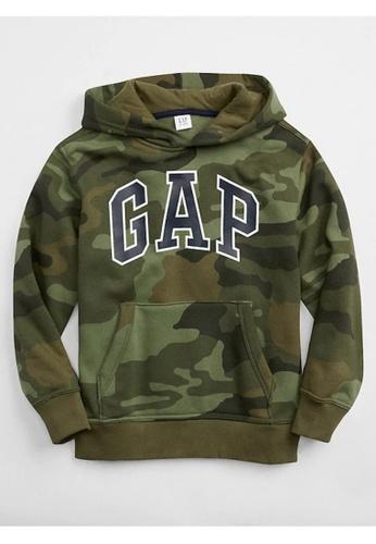 GAP green Kids Logo Pullover Hoodie 06EBDKA7D70428GS_1