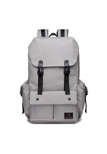 The Dude grey Predator Backpack TH373AC96RQDHK_1