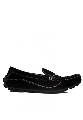 D-Island black D-Island Shoes Slip On Moccasins Rajut Comfort Suede Black DI594SH40RWXID_1