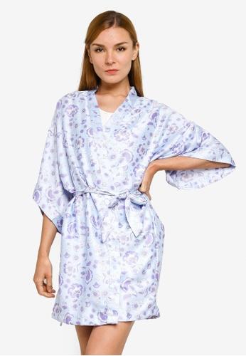Cotton On Body blue Satin Robe 6AB80AA230982FGS_1