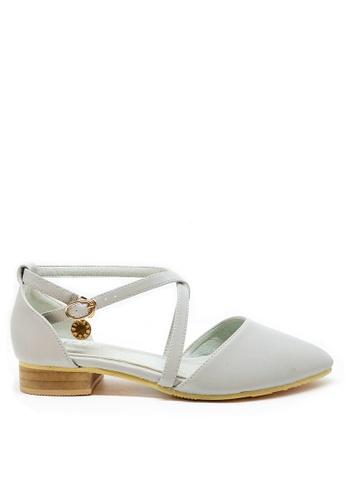 Twenty Eight Shoes blue Cross Strap Ballet Flats 329-38 C86E4SH8B37540GS_1
