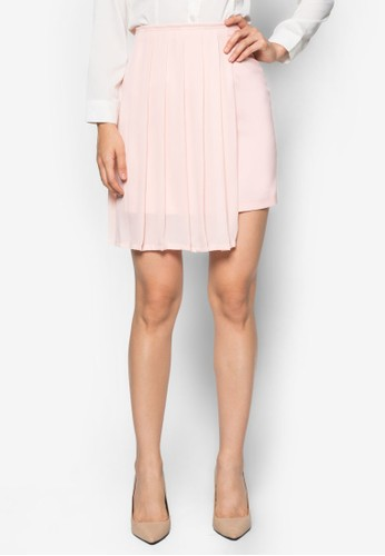 Geraldzalora 順豐ine 側褶飾短裙, 服飾, 清新俏皮
