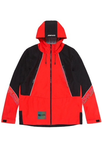 Fingercroxx orange Lightweight panel jacket EB1E5AAEB7CD53GS_1