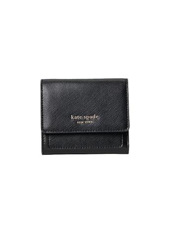 Kate Spade black Kate Spade Booked Trifold Flap Wallet pwr00189 Black 8C5FDAC600BA50GS_1
